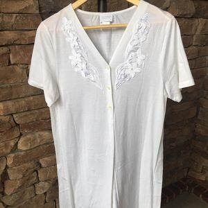 Hanro of Switzerland White Sleep Shirt